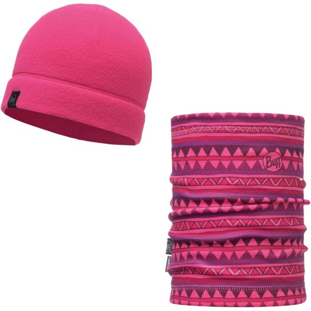 Buff Polar Hat + Polar Neckwarmer Set Valerie Pink ONE SIZE