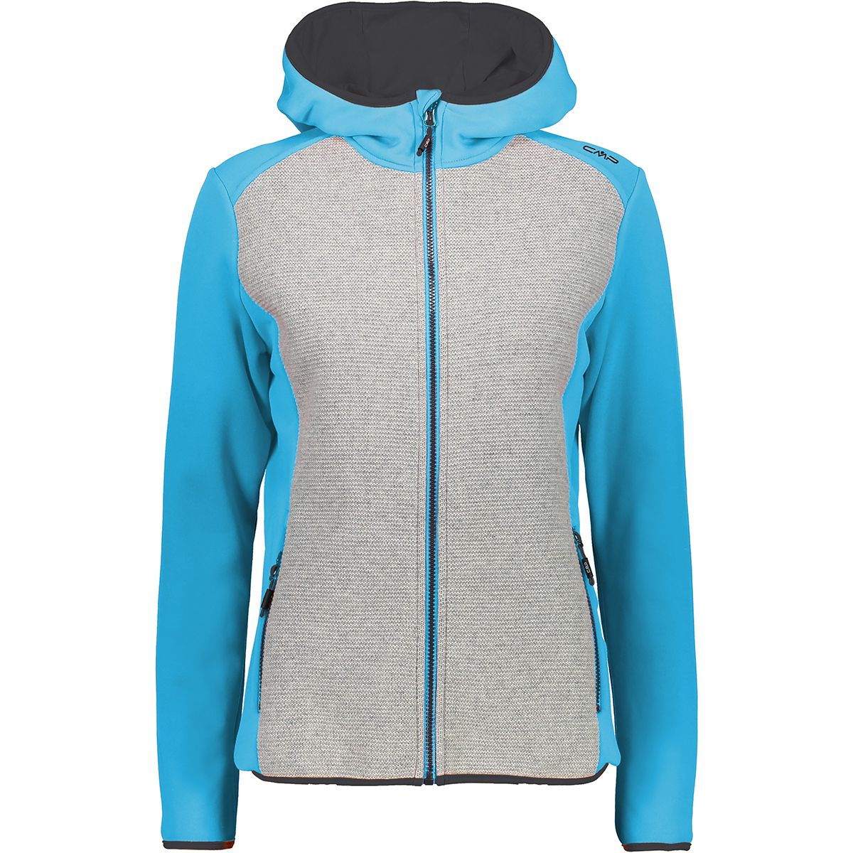 CMP Damen Stretch Tech Jacke (Größe L, Blau) | Fleecejacken > Damen