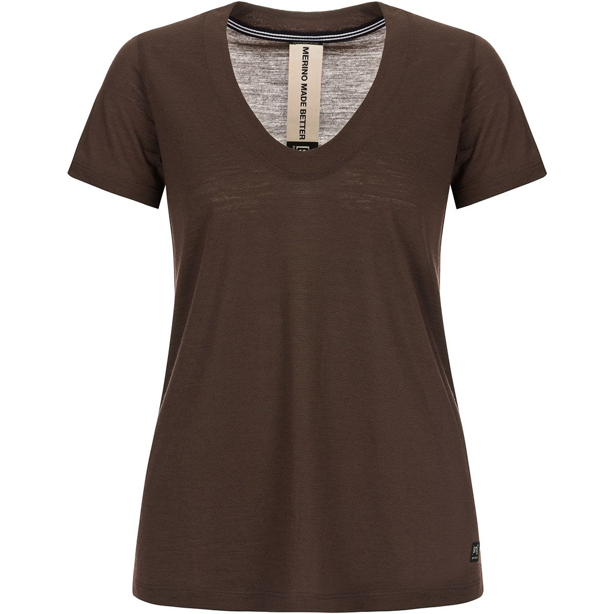 Super.Natural Damen City T-Shirt (Größe XS, Braun) | T-Shirts Merino > Damen