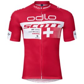 Odlo Men's Stand-Up Collar S/S FZ Swiss Power Replica