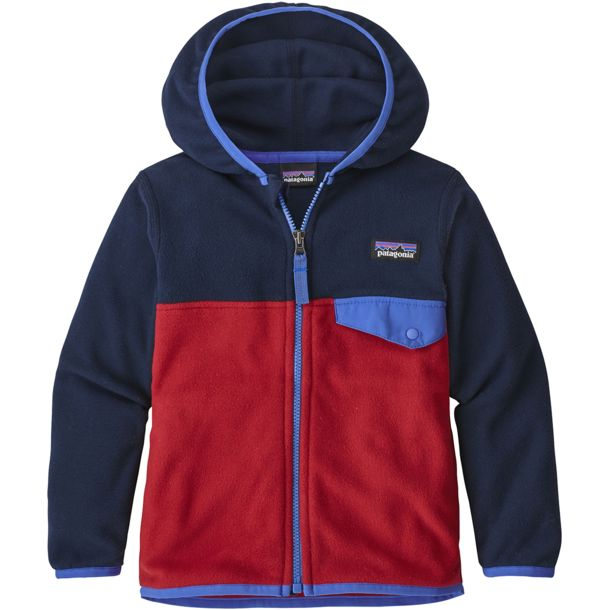 Patagonia Kinder Baby Micro D Snap-T Jacke classic red-navy blue 6M