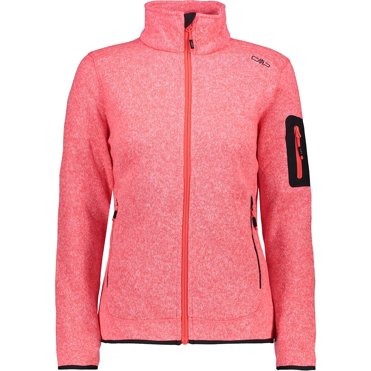 CMP Damen Strick Fleece Jacke (Größe XL, Rot) | Fleecejacken > Damen