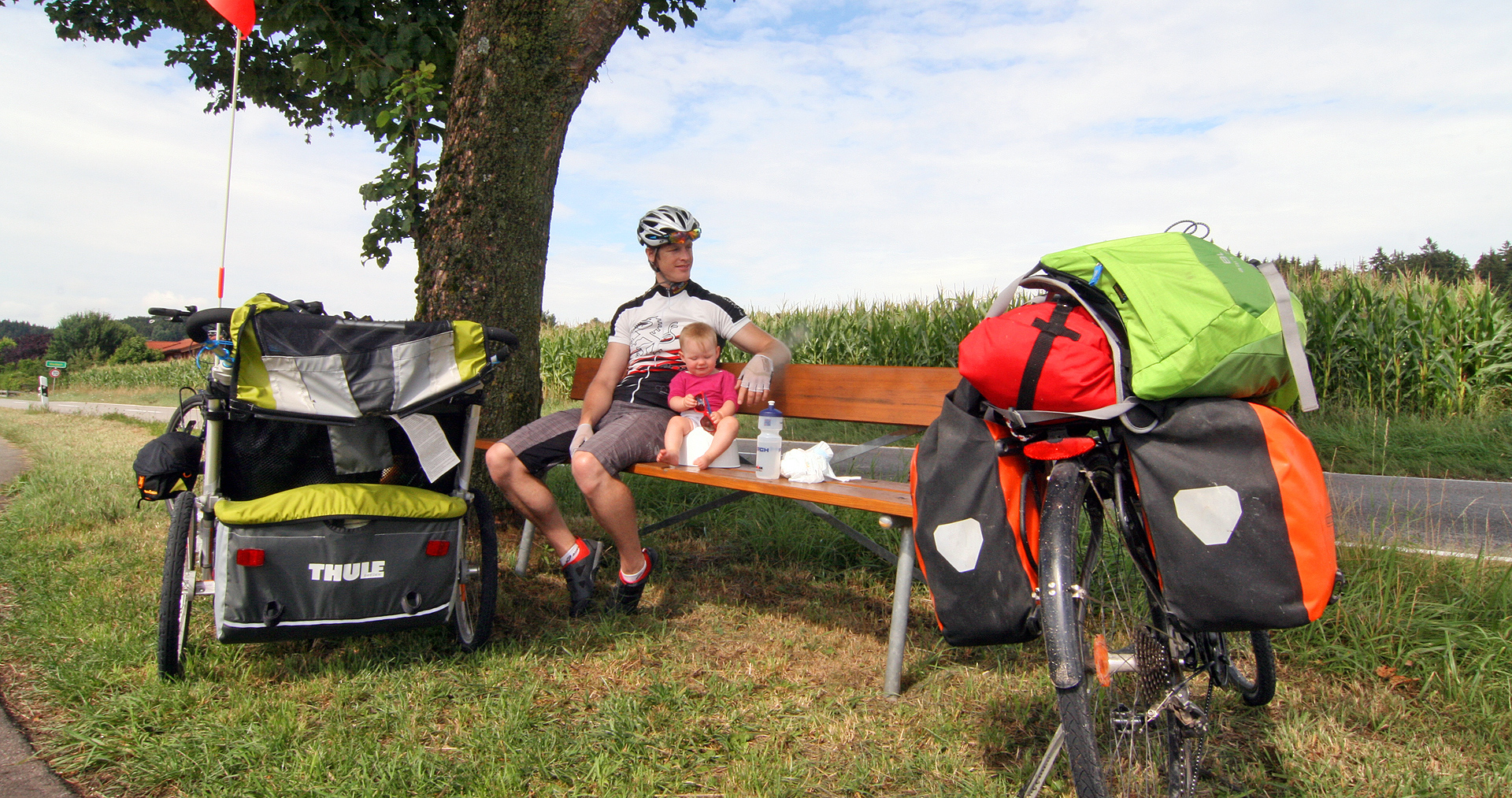 2015 09 Thule Chariot Cougar 2 im Test Judith Hackinger