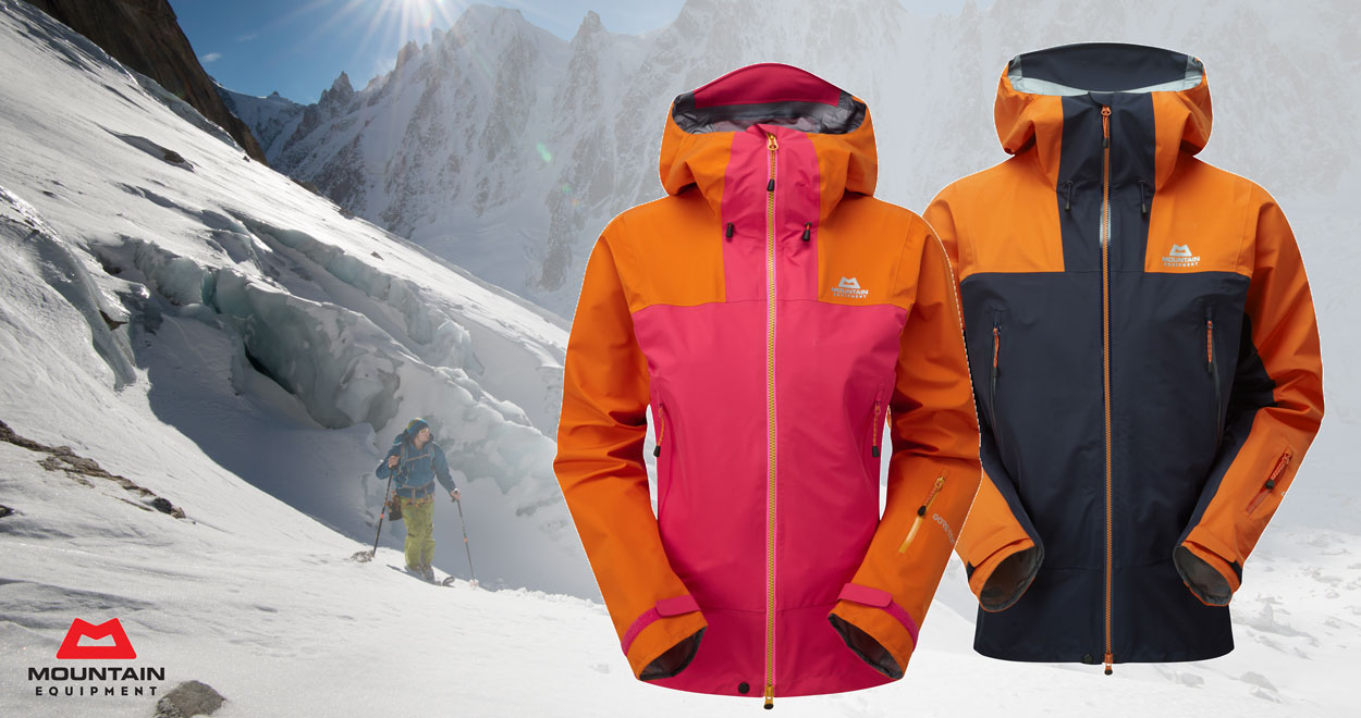 Hardshell jacket by Mountain Equipment worth €500 ideal for skiing, ski touring and freeride skiing.