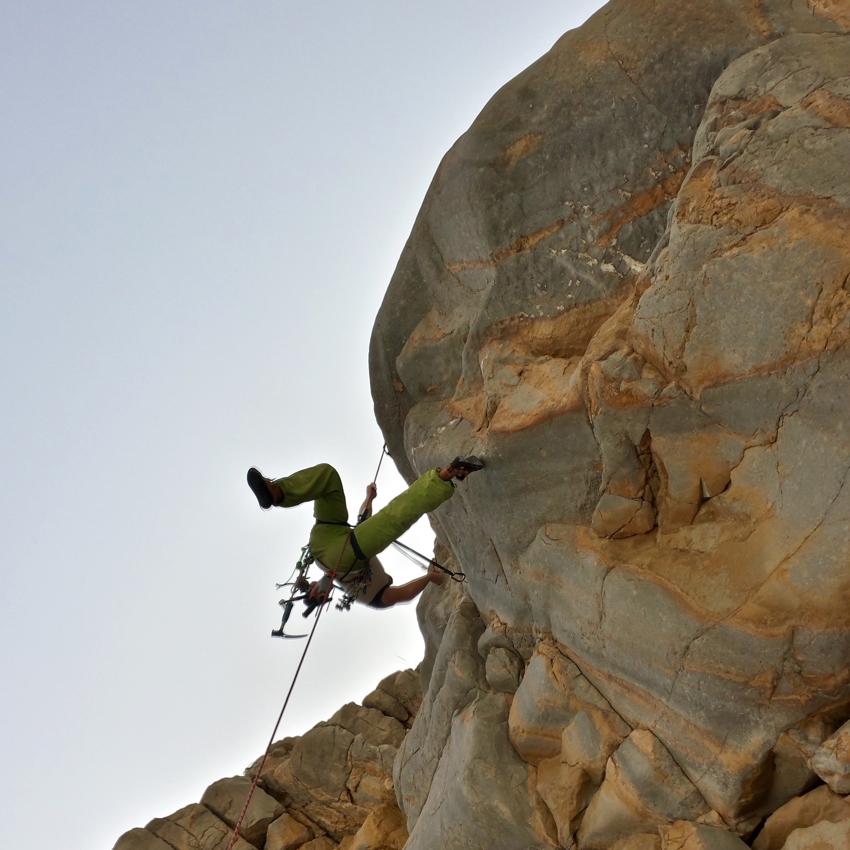 Climbing in Oman: Sand and rock anchors