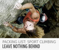 Packing list for sport climbing - in the Bergzeit Journal