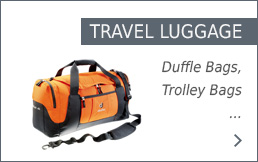 Deuter Travel Luggage in the Bergzeit Shop
