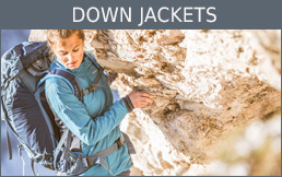 Buy down jackets secure and conveniently at Bergzeit