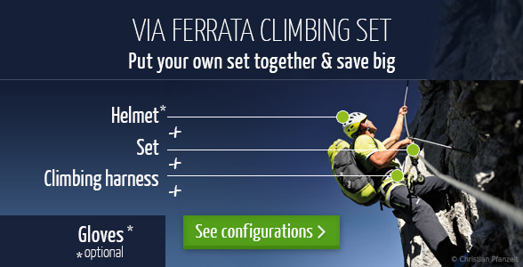 Shop your individual Via Ferrata Sets at Bergzeit.co.uk