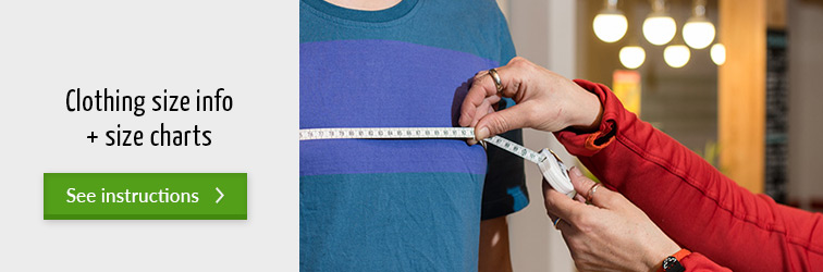 Size Charts for men, women and children's clothing
