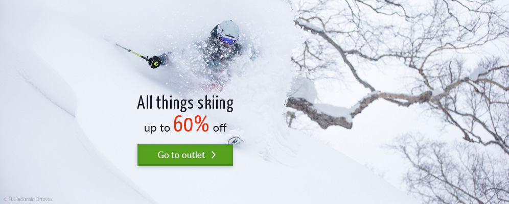 All things skiing up to 60% off in the bergzeit outdoor shop