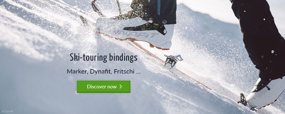 Ski-touring bindings in the bergzeit outdoor shop