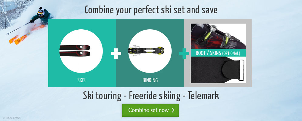Combine your perfect ski set and save in the bergzeit outdoor shop