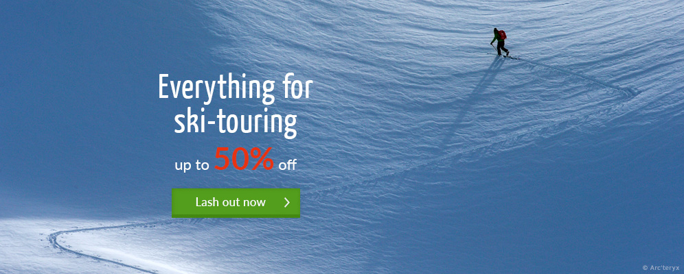 Everything for ski-touring - up to 50% off