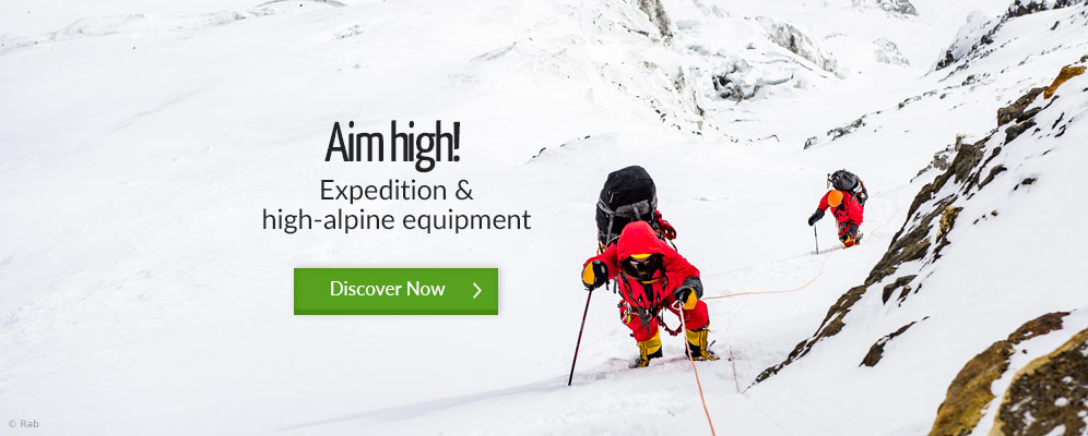 Aim high! Expedition & high-alpine euqipment