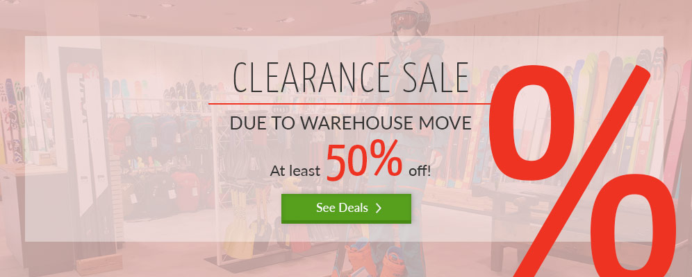 Clearance Sale - due to warehouse move - at least 50 % off!