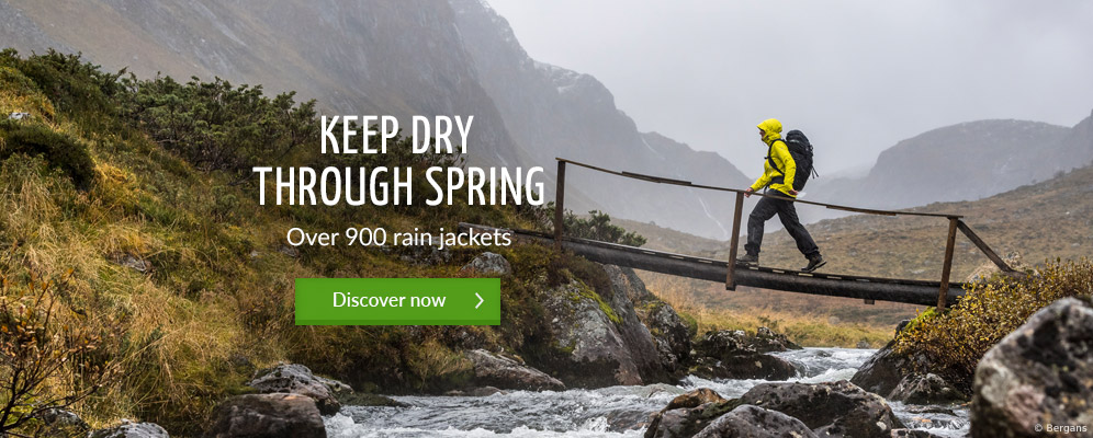 Keep dry through spring - Over 900 rain jackets