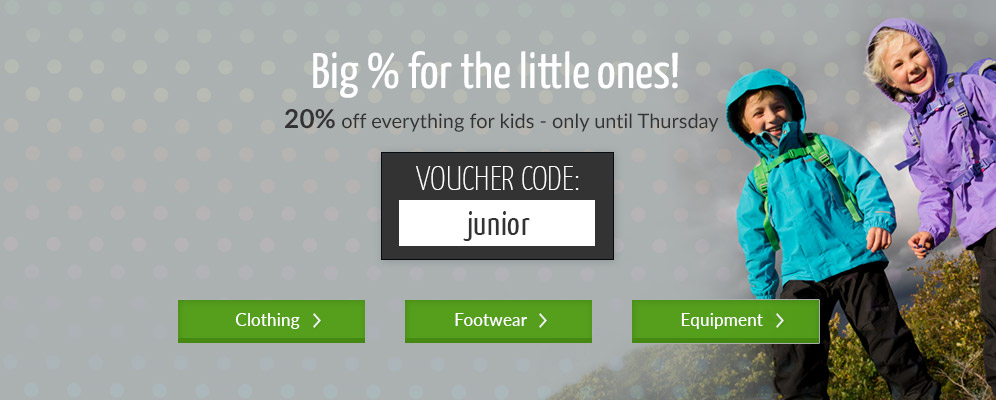 Big % for the little ones - 20% off - clothing