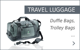 Deuter travel luggage at Bergzeit