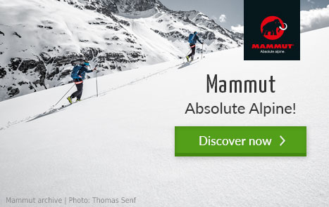 Mammut in the bergzeit outdoor shop