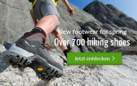 New footwear for spring - over 700 hiking shoes