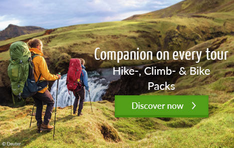 Companion on every tour - Hike-, Climb- & Bike Packs
